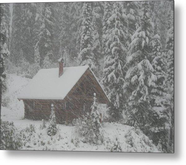 October Snowfall  --  British Columbia  Metal Print
