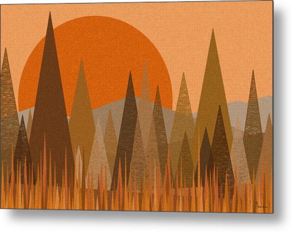 October Sunset Metal Print