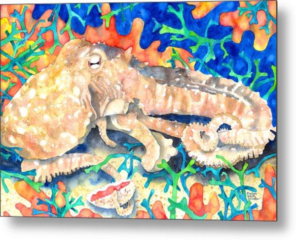Octopus Delight Metal Print