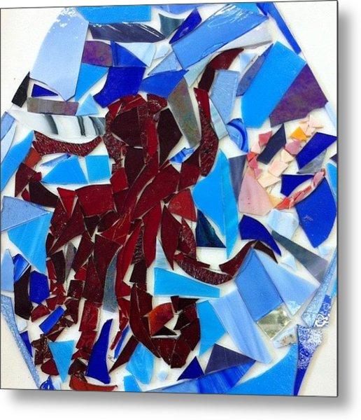 #octopus #glass #artproject #art Metal Print