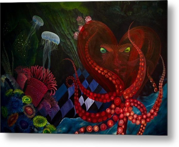 Octopus Heart Metal Print