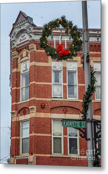 Metal Print featuring the photograph Oddfellow Block Winona Mn by Kari Yearous