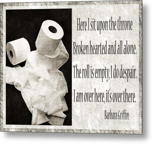 Ode To The Spare Roll Bw 2 Metal Print