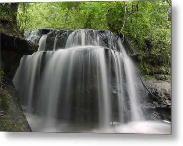 Odom Creek Waterfall Georgia Metal Print