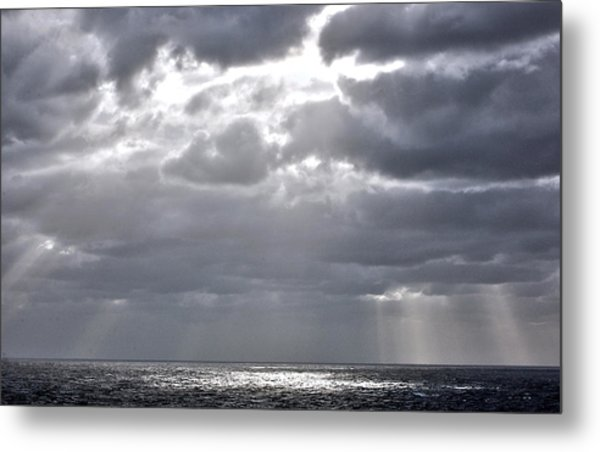 of Clouds and Sun. Metal Print