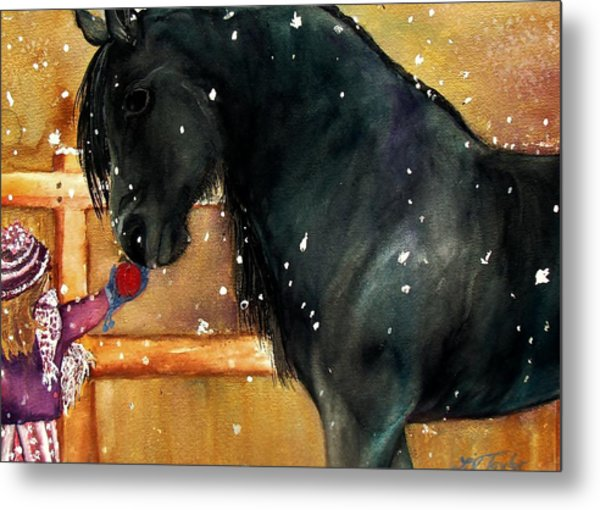 Of Girls And Horses Sold Metal Print