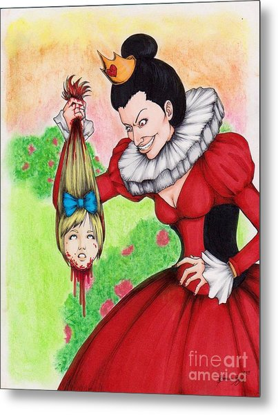 Off With Her Head Metal Print by Bibo