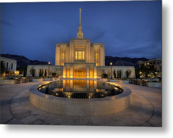 Ogden Temple Reflections Metal Print