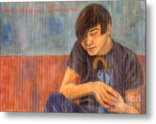Metal Print featuring the painting Oh Brother by Angelique Bowman