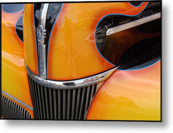 Oh That V8 Smile Metal Print