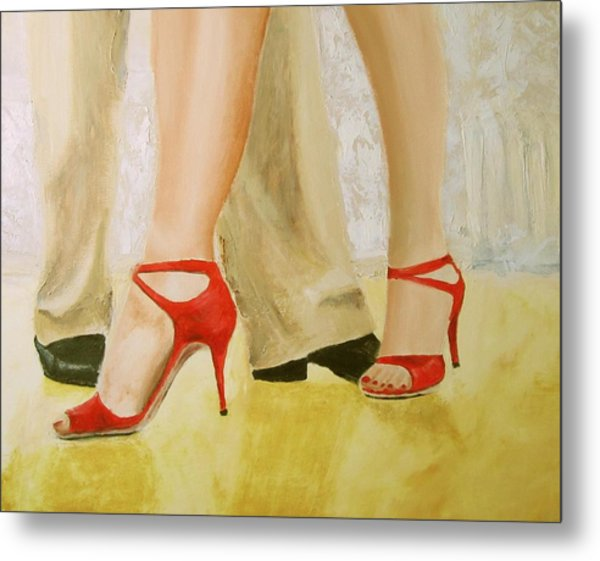 Oh Those Red Shoes Metal Print