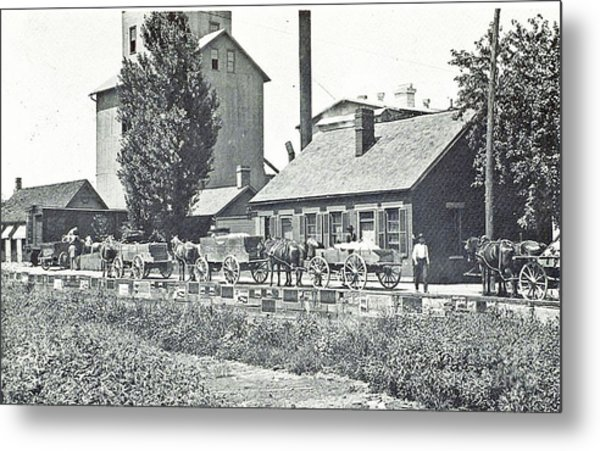 Ohio Erie Canal - Circa 1911 Metal Print