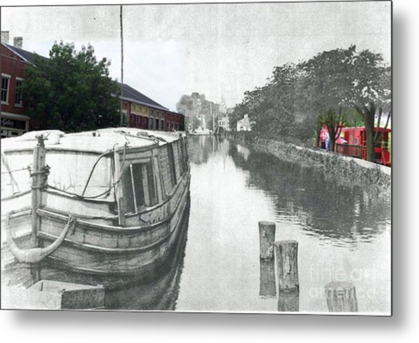 Ohio Erie Canal - Retouched Metal Print