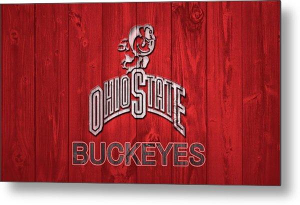 Ohio State Buckeyes Barn Door Metal Print