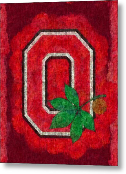 Ohio State Buckeyes On Canvas Metal Print
