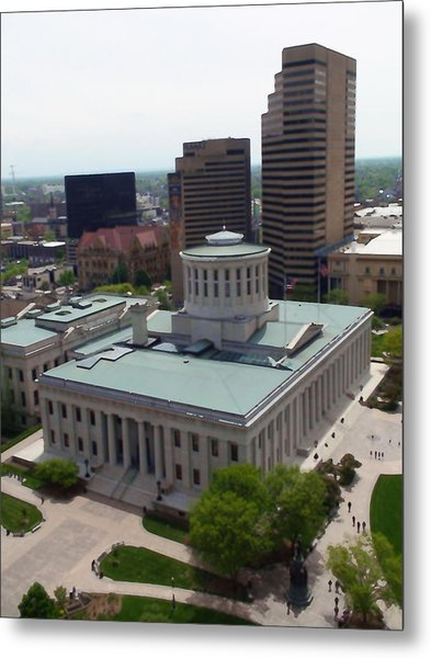 Ohio Statehouse Metal Print by Sanford