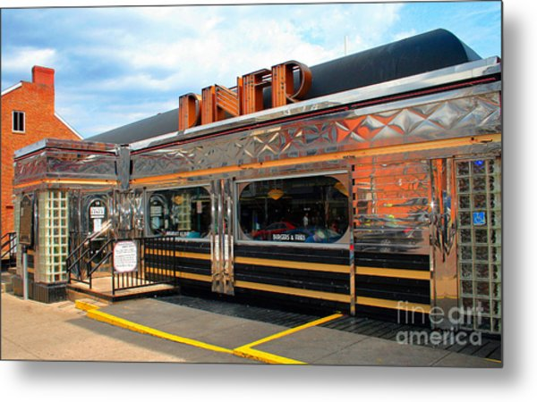 Ohio University Court Street Diner Metal Print