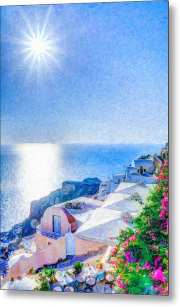 Oia Santorini Grk4178 Metal Print