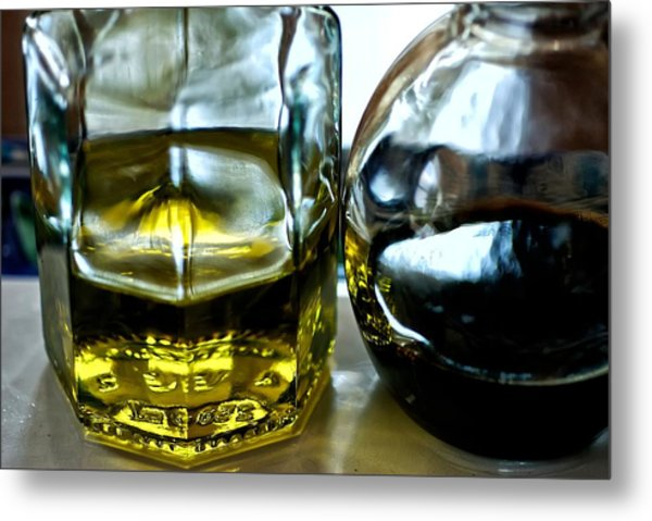 Oil And Vinegar 2 Metal Print by Guillermo Hakim
