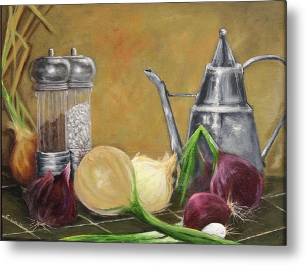 Oil Can Still Life Metal Print