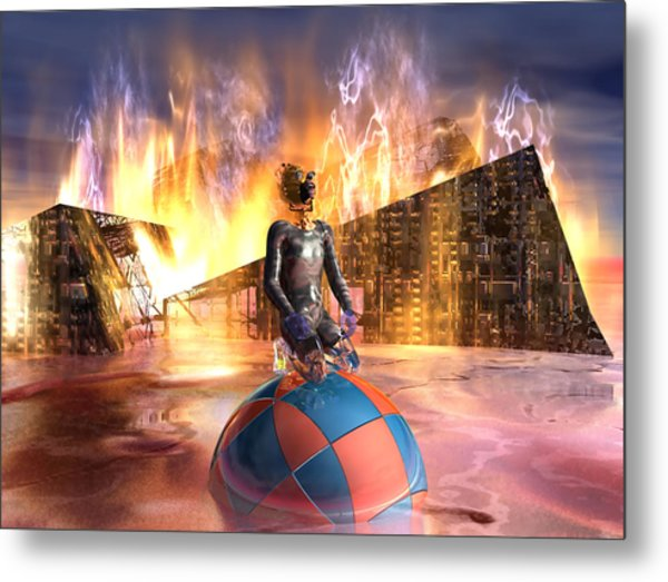 Oil Child Night Of The Fire #19_dd Metal Print by Stephen Donoho