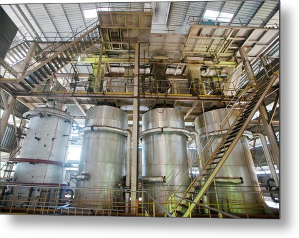 Oil Palm Processing Factory Metal Print by Scubazoo/science Photo Library