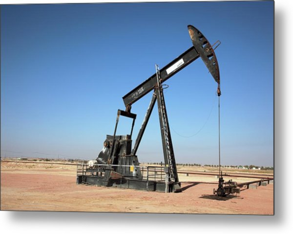 Oil Pump Metal Print by Bildagentur-online/tschanz-hofmann