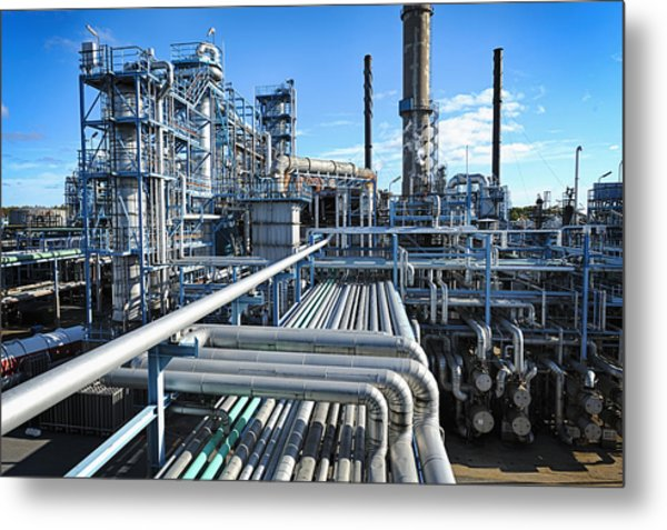 Oil Refinery Overall View Metal Print