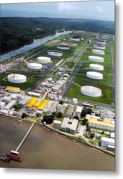 Oil Tank Farms  Metal Print