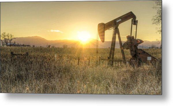 Oil Well Pump Metal Print