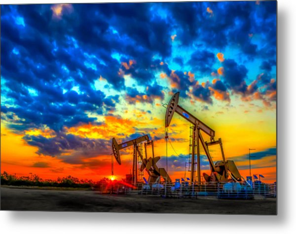 Oilfield Color Burst Metal Print