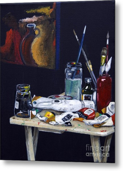 Oils Still Life Metal Print