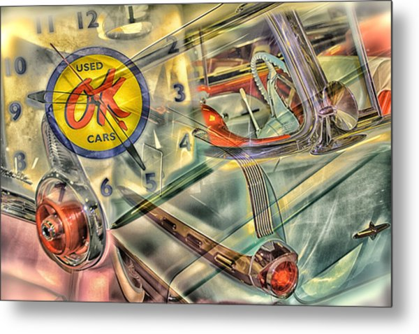 Ok Used Cars Metal Print by Jeanne Hoadley
