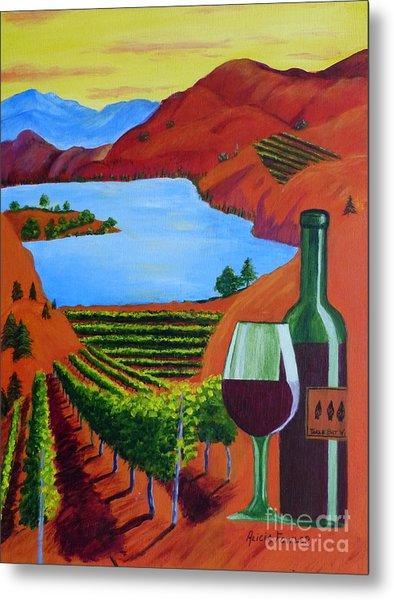 Okanagan Wine Country Metal Print