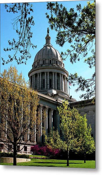 Oklahoma City Capitol In The Spring Metal Print