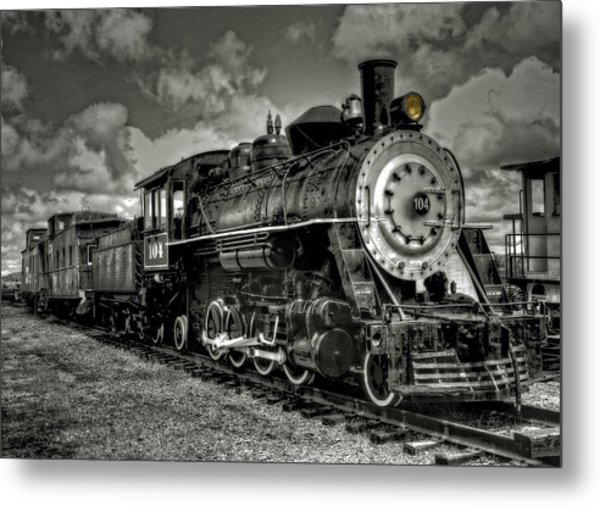 Old 104 Steam Engine Locomotive Metal Print