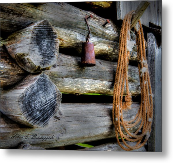 Old Barn Goods Metal Print
