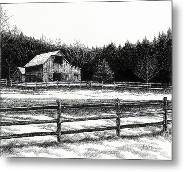 Old Barn In Franklin Tennessee Metal Print