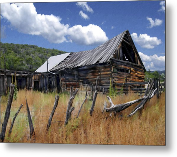 Old Barn Las Trampas New Mexico Metal Print