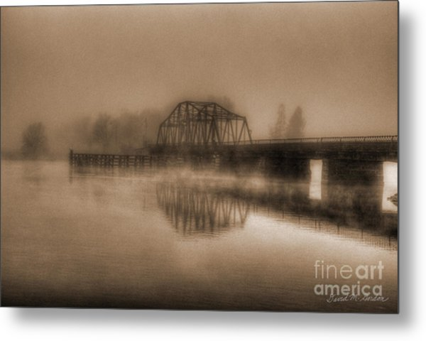 Old Berkley Dighton Bridge Metal Print