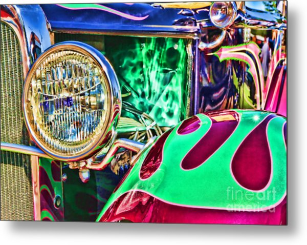 Old Betty Ford Vintage Car By Diana Sainz Metal Print