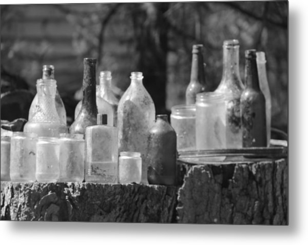 Old Bottles Metal Print by Sarah Klessig
