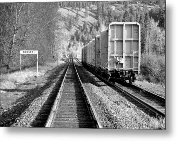 Old Bristol Rail In Ellensburg Metal Print