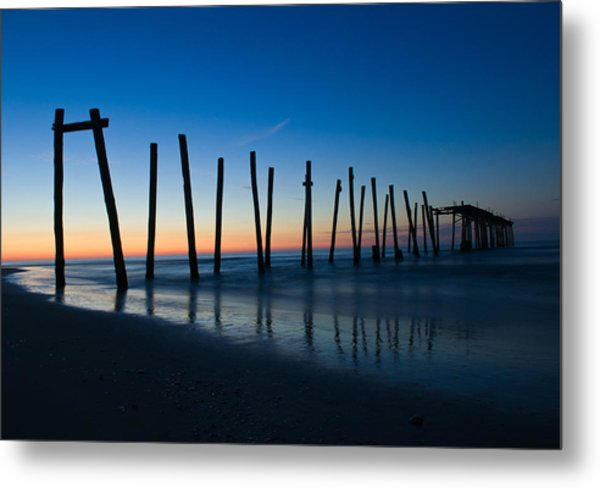 Old Broken 59th Street Pier Metal Print