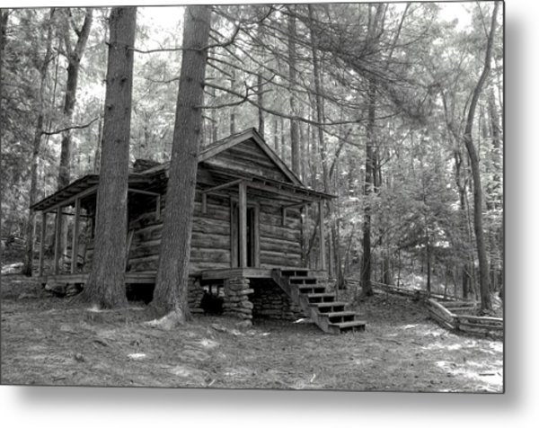 Old Cabin  Metal Print by Bob Jackson