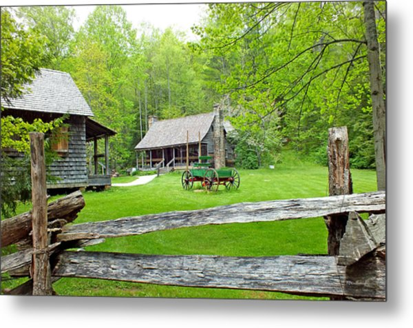 Old Cabins At The Cradle Of Forestry Metal Print