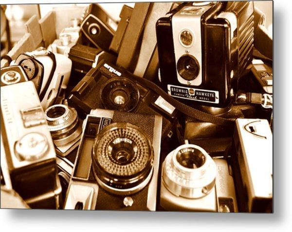 Old Cameras Metal Print by Marina Slusar