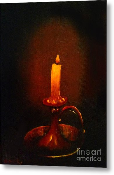 Old Candle Stick Painting Metal Print