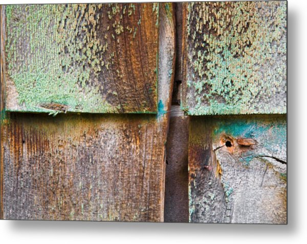 Old Cedar Shingles 1740 Metal Print by Bob Hills