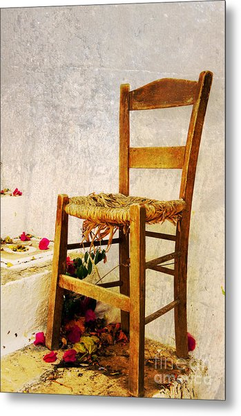 Old Chair Metal Print by Christos Dimou